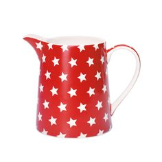 red and white star pitcher