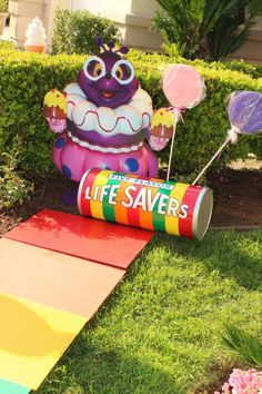 Candyland Decorations | Candyland Candy Land themed birthday party via Kara's Party Ideas ...