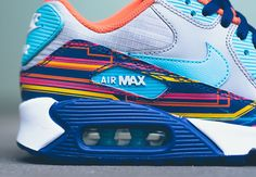 You haven't seen a graphic like this before. The Nike Air Max 90 has been reinvented countless times before, and now Nike's revamping the classic retro running model thanks to an added dose of nylon and heavy graphics throughout. The electrical current-like … Continue reading →