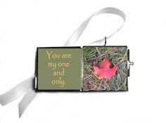 Red Maple Leaf Photo Locket Write Your Own by LovesParisStudio, $5.00