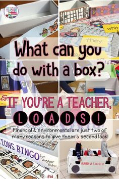Fun ways to use boxes in the classroom (and freebies! Educational Activities, Classroom Activities, Classroom Organization, Learning Activities, Activities For Kids, Drama Activities, Indoor Activities, Classroom Ideas, Organizing