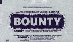 L'emballage du Bounty d'époque