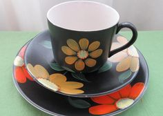 Items similar to Vintage Gift. James Kent Old Foley. Retro Old Foley. Tea For One. Painted Cups, Hand Painted, Tea Cup Saucer, Tea Cups, Vintage Gifts, Retro Vintage, Tea For One, Simple Flowers, Side Plates