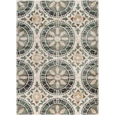 Deco Ivory 7 ft. 10 in. x 10 ft. 3 in. Transitional Area Rug