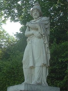 Statue of Tiridates I of Armenia in the park of the Palace of Versailles.