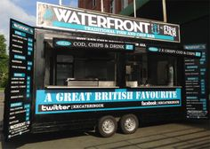 Our Waterfront fish and chip bar is our largest fish and chip unit at x Food Truck Business, Bakery Business, Traditional Fish And Chips, Mobile Cafe, Food Vans, Coffee Truck, Chips Recipe, Food Trucks, Great British