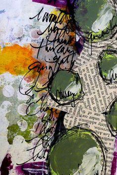 Green circles; Dina Wakley