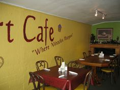 Comfort Cafe in Smithville, TX. They are a nonprofit, donation only restaurant!