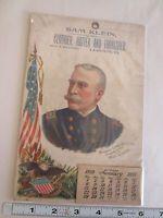1899 CALENDAR FEATURING REAR ADMIRAL GEORGE DEWEY FULL DATE PAD