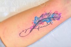 Bildergebnis für aquarell tattoo feather