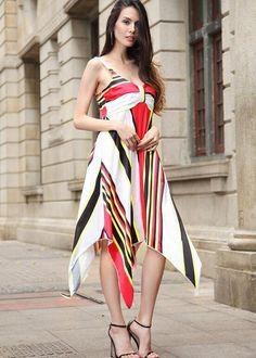 c1fb75ead3 Simplee Sexy print cotton summer dress Strap deep v neck high waist beach  dresses women 2017