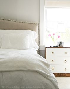 Chic Ikea Hacks - I love this two-toned number.  They look like they're out of a magazine!