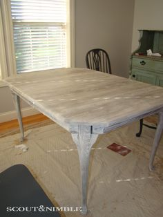 east coast creative: refinished dining room table {furniture
