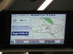 De Milão a Florença de trem à  296 km.