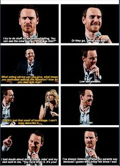 """Michael and Kate Winslet """"Steve Jobs"""" interview Embedded image permalink"""