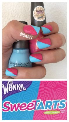 #manicure of the week inspired by #sweetarts! Featuring #sinfulcolors #kandeejohnson #sckandee #pinkvelvet and #candyhearts. #Loveit!  #nailart. #Nails #Uñas #Unghie #Ongles  #Unhas #Nailpolish #Esmalte #Smalto #Émail. #Beauty #Belleza #Bellezza #Beauté #Beleza #Cosmetics #Cosméticos #Cosmetici #fabat40.
