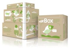 Shipping boxes by Ebay encourage reuse and recycling.