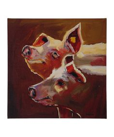 Pigs Wrapped Canvas by Creative Co-Op #zulily #zulilyfinds