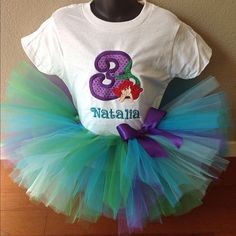 #littlemermaid #ariel #birthdaygirl #tutu #tutuset #etsy #handmade - @the_tiny_closet- #webstagram