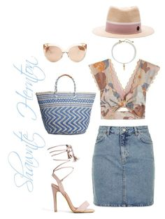 """""""Untitled #651"""" by fashionista-shawnte on Polyvore featuring Alice McCall, Topshop, Maison Michel, Lucky Brand, Linda Farrow and Vanessa Mooney"""