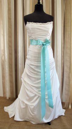 Bridal Sash 2 1/4 Tiffany Blue Satin Ribbon by JessicaAnnBoutique, $19.00