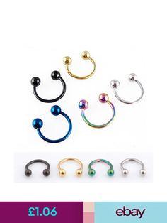 2pc Surgical Steel Stud Earring Eyebrow Tongue stud Lip nail Piercing E0226H