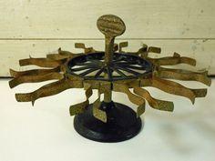 Antique Cast Iron Metal Stamp Rack Round by buckeyesandbluegrass