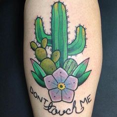 Cactus Tattoo Design by Nick Stambaugh