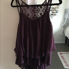 Free people tank top Maroon free people Flowy tank top with slightly low back (brand new) Free People Tops Tank Tops