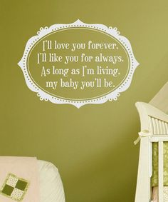 White Love You Forever Wall Quote