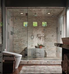 Bathrooms with shower - 24 ideas to create an efficient design - Shower Remodeling