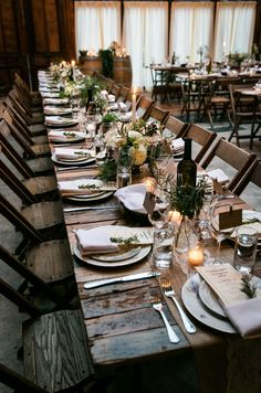Check out this wedding for awesome inspiration on how to throw a rustic wedding.