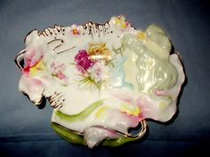 R.S. Prussia Hidden Image Small Tray/Dish With Floral & Gilded Decoration  #RSPrussia