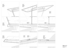 Gallery of Construction Details of Zaha Hadid Architects Projects - 24 : Construction Details of Zaha Hadid Architects Projects,Messner Mountain Museum Corones / Zaha Hadid Architects. Image Courtesy of Zaha Hadid Architects Architecture Today, Ancient Greek Architecture, Roof Architecture, Architecture Drawings, Contemporary Architecture, Architecture Details, Zaha Hadid Architects, Mountain House Plans, Architects