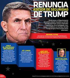 Conoce todos los detalles sobre la renuncia de Michael Flynn como asesor de seguridad de Trump. #InfografíaNotimex