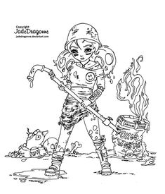 Post-Apocalyptic Cutie pie - Lineart by JadeDragonne.deviantart.com on @DeviantArt