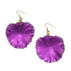Amazon.com: John S Brana Violet Anodized Aluminum Lily Pad Earrings: Jewelry