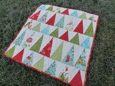 Christmas tree quilt, modern and with nice proportions
