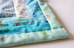 I've never tried this but think I will on my next baby quilt ... self-binding quilt!