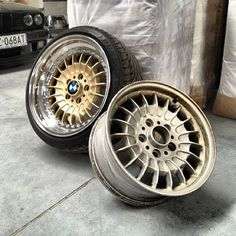 "From a BMW TRX ""one piece wheel"" to split rim, 3 piece wheels. Amazing what Indywidual wheel is doing. Jdm Wheels, Truck Wheels, Chrome Wheels, Rims For Cars, Rims And Tires, Bmw Interior, Bmw E24, Motorcycle Wheels, Bike Photo"