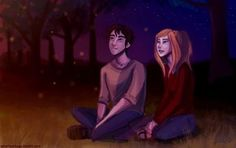 I have never seen a fanart featuring artemis and orion and this looks so realistic
