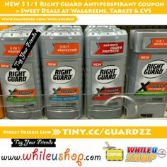 NEW $1/1 Right Guard Antiperspirant Coupon #freebies #freebiesfriday #freesamples #freestuff #giveaway #igotitfree #freesamples