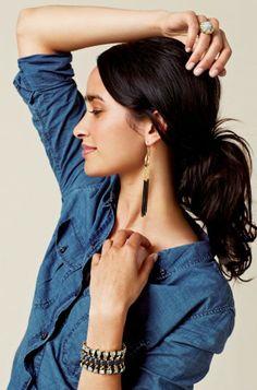 Silk Ribbon, Brass & Gold Clasp Bracelet | Tempest Bracelet | Stella & Dot