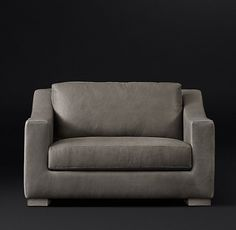 Modena Slope Arm Leather Chair-and-a-Half