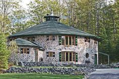 Round Two Story Cordwood Home