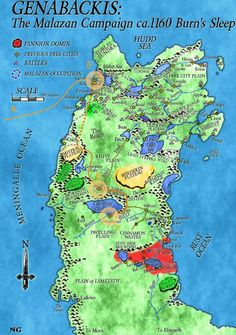 Malazan Book of the Fallen 1: Gardens of the Moon - Character Map - Detail: World
