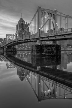 CLEMENTE CROSSING - The Clemente Bridge in Pittsburgh is very often photographed, but not always like this.  Prints available at www.jpdirollphotography.com © JP Diroll 2013