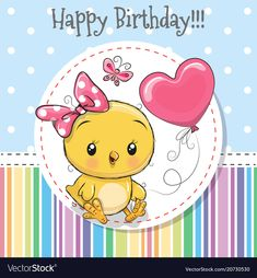 Greeting card Cute Chicken girl with balloon. Greeting card Cute Cartoon Chicken girl with balloon stock illustration Balloon Cartoon, Cartoon Chicken, Birthday Cartoon, Its A Girl Balloons, Cute Chickens, Baby Painting, Baby Clip Art, Free Hand Drawing, Cute Clipart