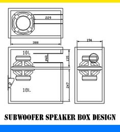 "Subwoofer Speaker box design. Using 5-6"" speaker."