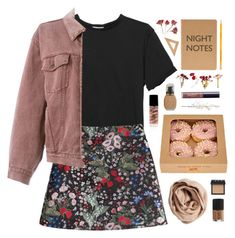 """""""I come out at night 'cause I sleep all day"""" by nandim ❤ liked on Polyvore featuring Monki, Valentino, Moschino, Stila, Sisley, Marby & Elm, Brunello Cucinelli, tarte, NARS Cosmetics and kitchen"""